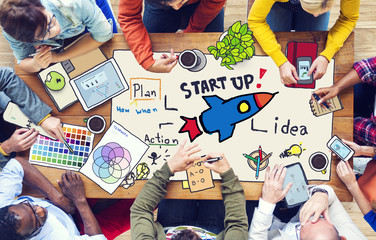 Diverse People with Startup Business Concept
