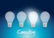 consulting light bulb message illustration design
