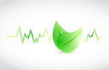 green lifeline leaves illustration design poster