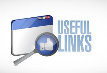 useful links browser illustration design