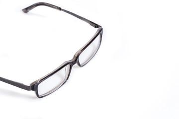 retro looking glasses on white