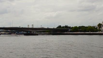 Chao Phraya River landmark in Bangkok Thailand