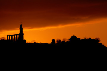 Silhouette of Edinburgh skyline