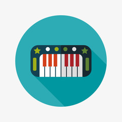 piano flat icon with long shadow,eps10