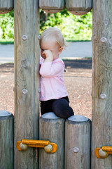Crying toddler outdoor