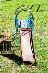 Steel slider playground parkingtoy