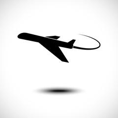 Vector illustration of airplane symbol