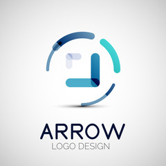 Vector arrow company logo