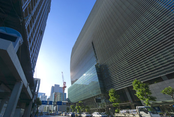 [東京都市風景]日本橋高層ビル街(再開発が進むビジネス街)