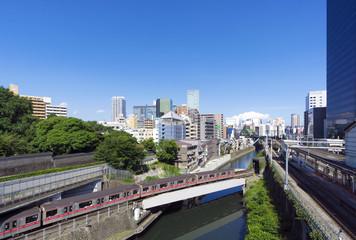 [東京都市風景]お茶の水駅(聖橋からの眺め)-527