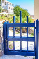 Small blue gate