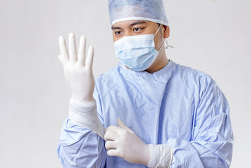 Surgeon Wearing Gloves