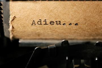 inscription on a typewriter