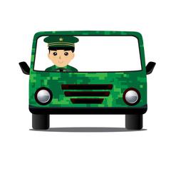 Car Military Driving