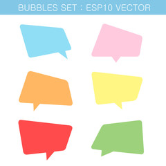 bubbles color set vector