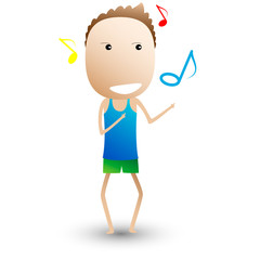 Dance, musical composition. funny cartoon. cartoon vector