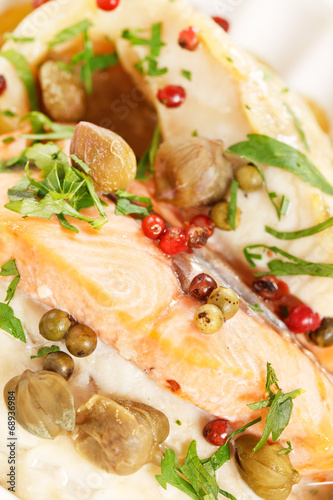 canvas print picture roasted fish