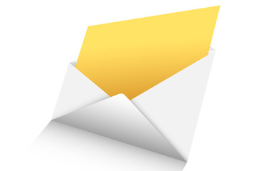 open mail 3d vector
