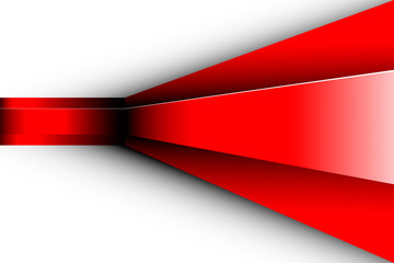 red abstract illustration. 3D Vector