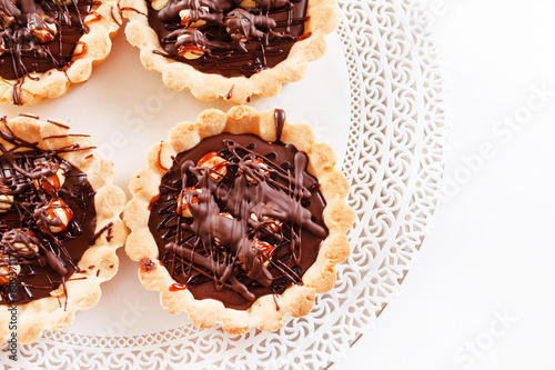 canvas print picture chocolate tarts