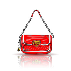 Red glamour bag