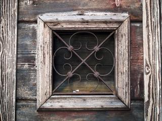 inferriata della serrandain legno di un bacaro a Rialto, Venezia