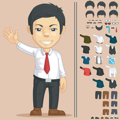 Office Worker Customizable Character