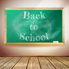 Chalkboard with Back to School text. EPS10