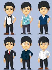 Young Man Character Set