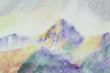 the Cezanne's Mountain watercolor