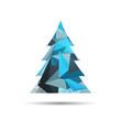 Obrazy na płótnie, fototapety, zdjęcia, fotoobrazy drukowane : Vector Illustration of an Abstract Christmas Tree