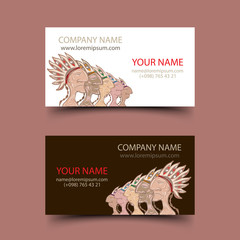 Tribal invitation cards