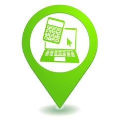 estimation en ligne sur symbole localisation vert
