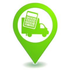 estimation frais de livraison sur symbole localisation vert