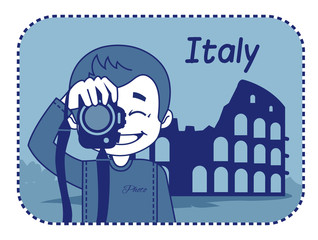 Teaser with photographer travels through Italy