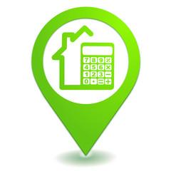 estimation maison sur symbole localisation vert