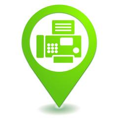fax contact sur symbole localisation vert