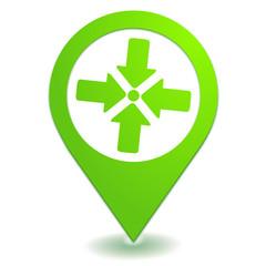point de rassemblement sur symbole localisation vert