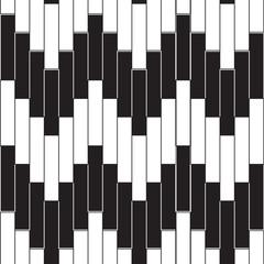 Retro black and white seamless pattern