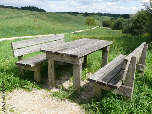 canvas print picture Picknick Bank