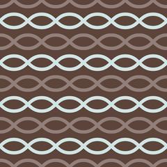 Brown retro loops seamless pattern