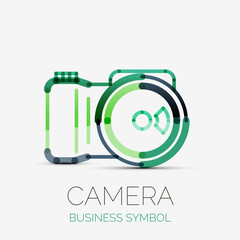 Camera icon company logo, business symbol concept