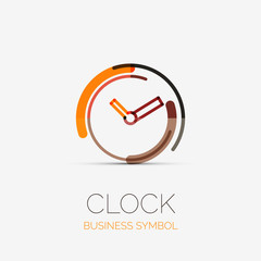 Clock, time company logo, business concept