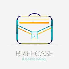 Briefcase icon company logo, business concept