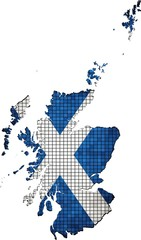 Scotland map grunge mosaic