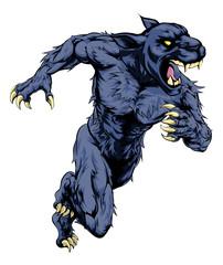 Panther sports mascot running