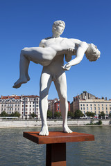 Famous sculpture in Lyon