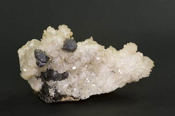 Galena on quartz. 15cm across.