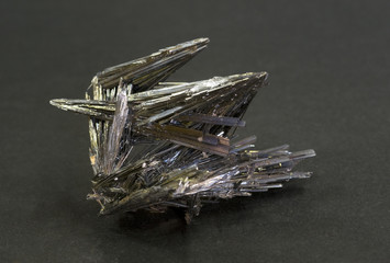 Stibnite (Antimonite) from Romania. 5cm across.