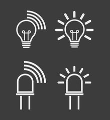 Light internet data transmission device icons